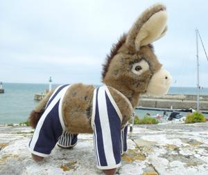Peluche Ulysse, l'âne en culotte