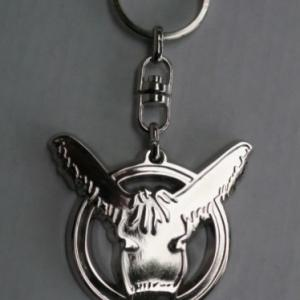 Porte-clefs en métal gris